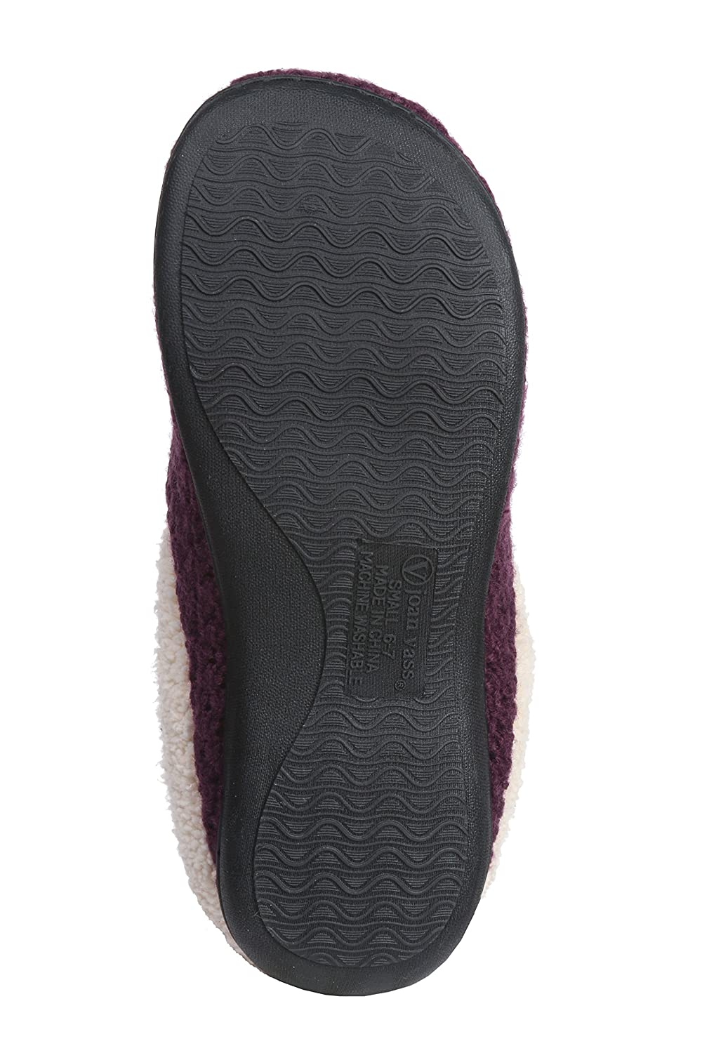 Roxoni Women's Fleece Lined Knit Winter Slippers; A Ladies Warming Indoor & Outdoor Clog with a Non Slip Rubber Sole 2116