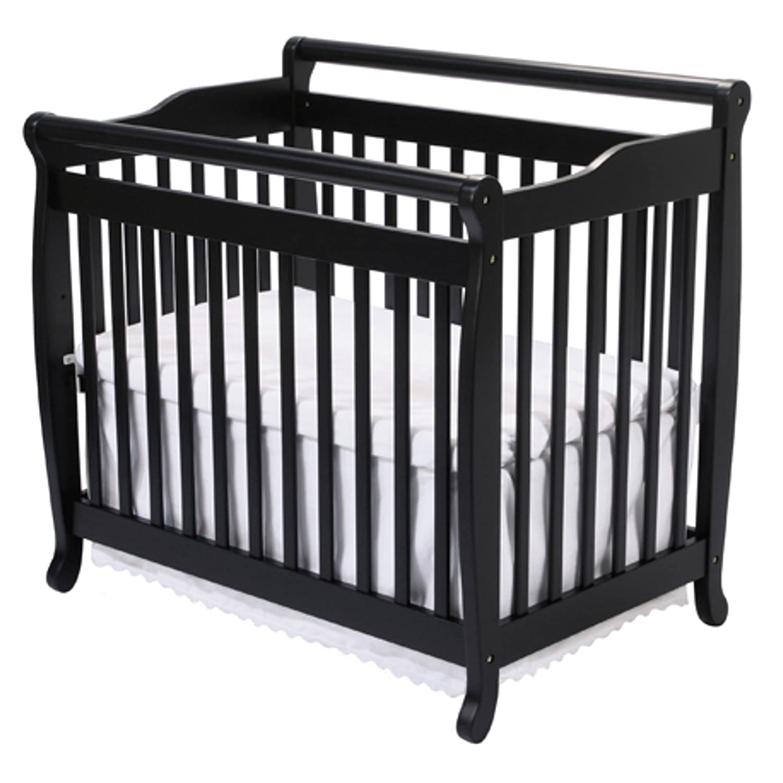 Crib for babies india - Amazon Com Davinci Emily 2 In 1 Mini Crib And Twin Bed In Ebony Finish Convertible Cribs Baby