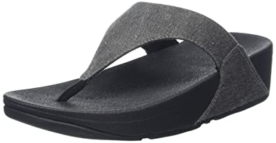 40642a1db035 Fitflop Women s Lulu Toe-Thong Sandals-Shimmer-Denim Open  Amazon.co ...
