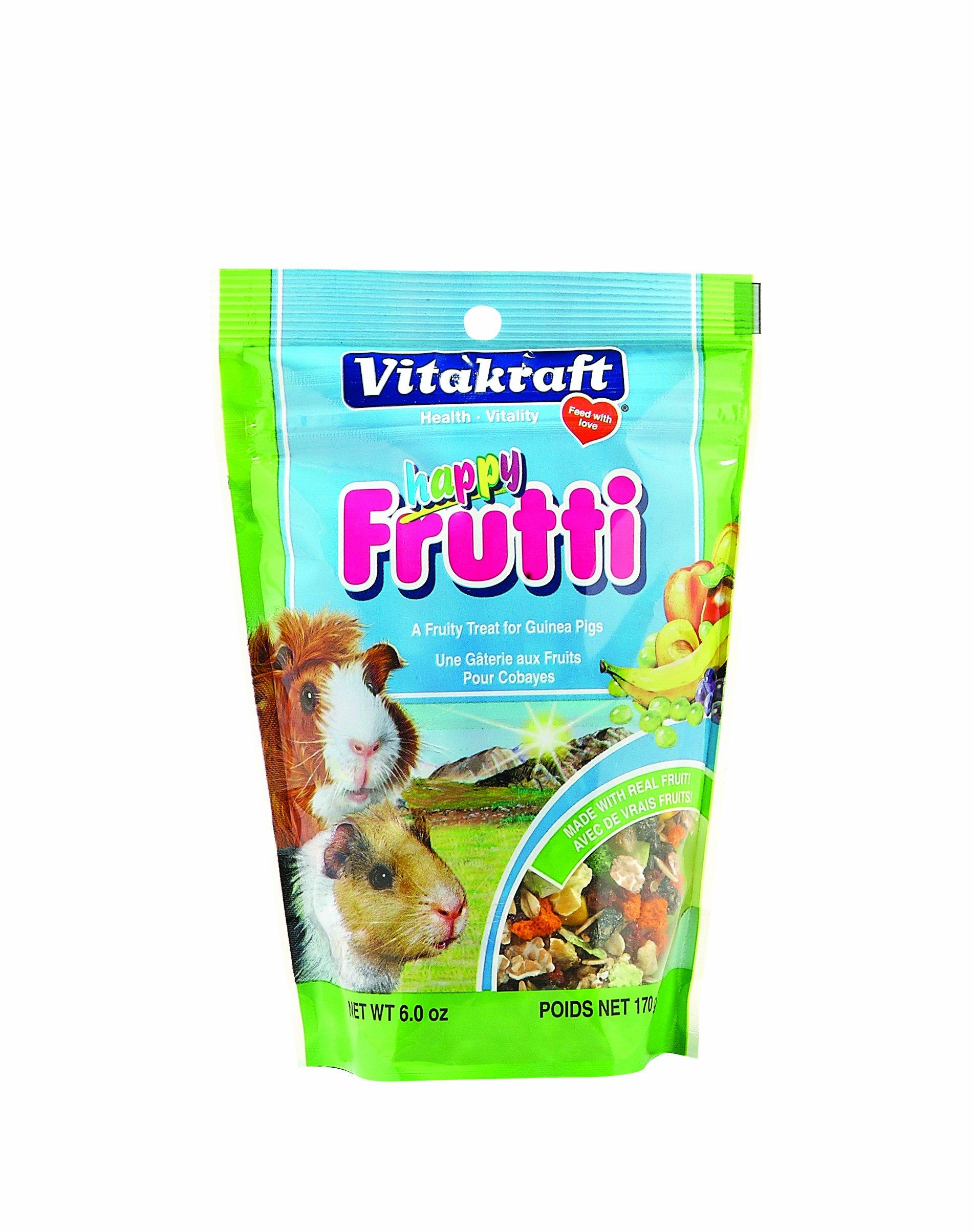Vitakraft Guinea Pig Happy Frutti Treat, 6 Ounce Pouch