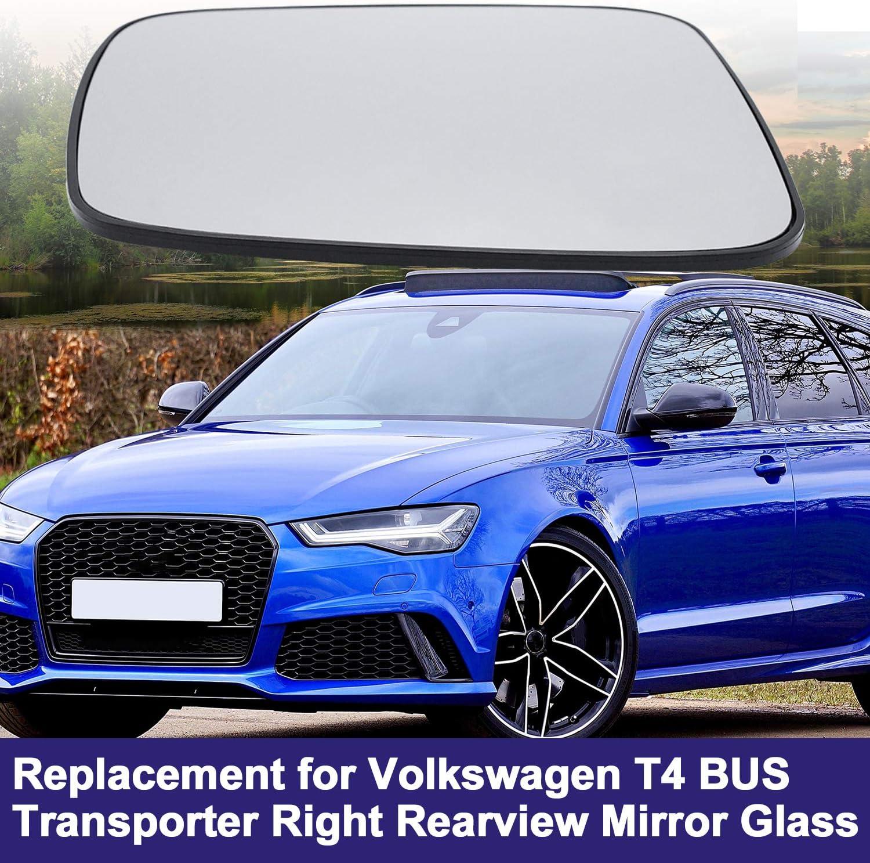 Destra KKmoon Vetro Secchietto Retrovisore Auto Specchi di Ricambio Specchietti Sostituzione per Volkswagen T4 Bus Transporter