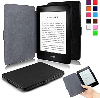 INFILAND Kindle Paperwhite Funda Case, Folio Cascara Delgada con ...