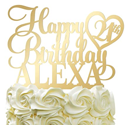 Fine Happy Birthday Customize Birthday Cake Topper Personalized Name Personalised Birthday Cards Cominlily Jamesorg