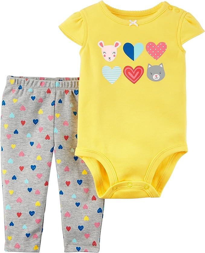 CARTER/'S 3PC MOMMY/'S SWEETHEART GIRL BODYSUIT TUNIC LEGGING SET 9M OUTFIT