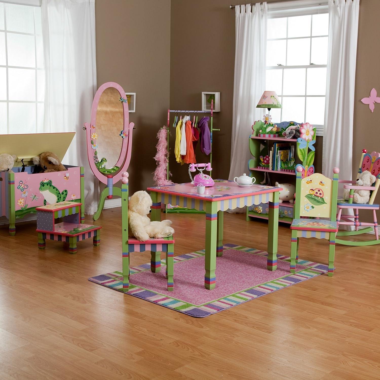 Amazon.com: Fantasy Fields Magic Garden Toy Box with Rocking Chair ...