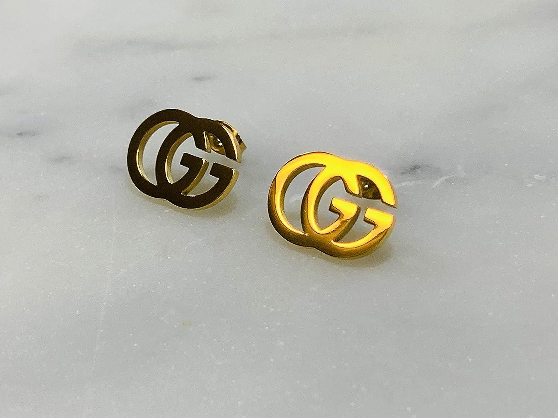 Gorgeous Elegant Gold Plated Stud Earrings