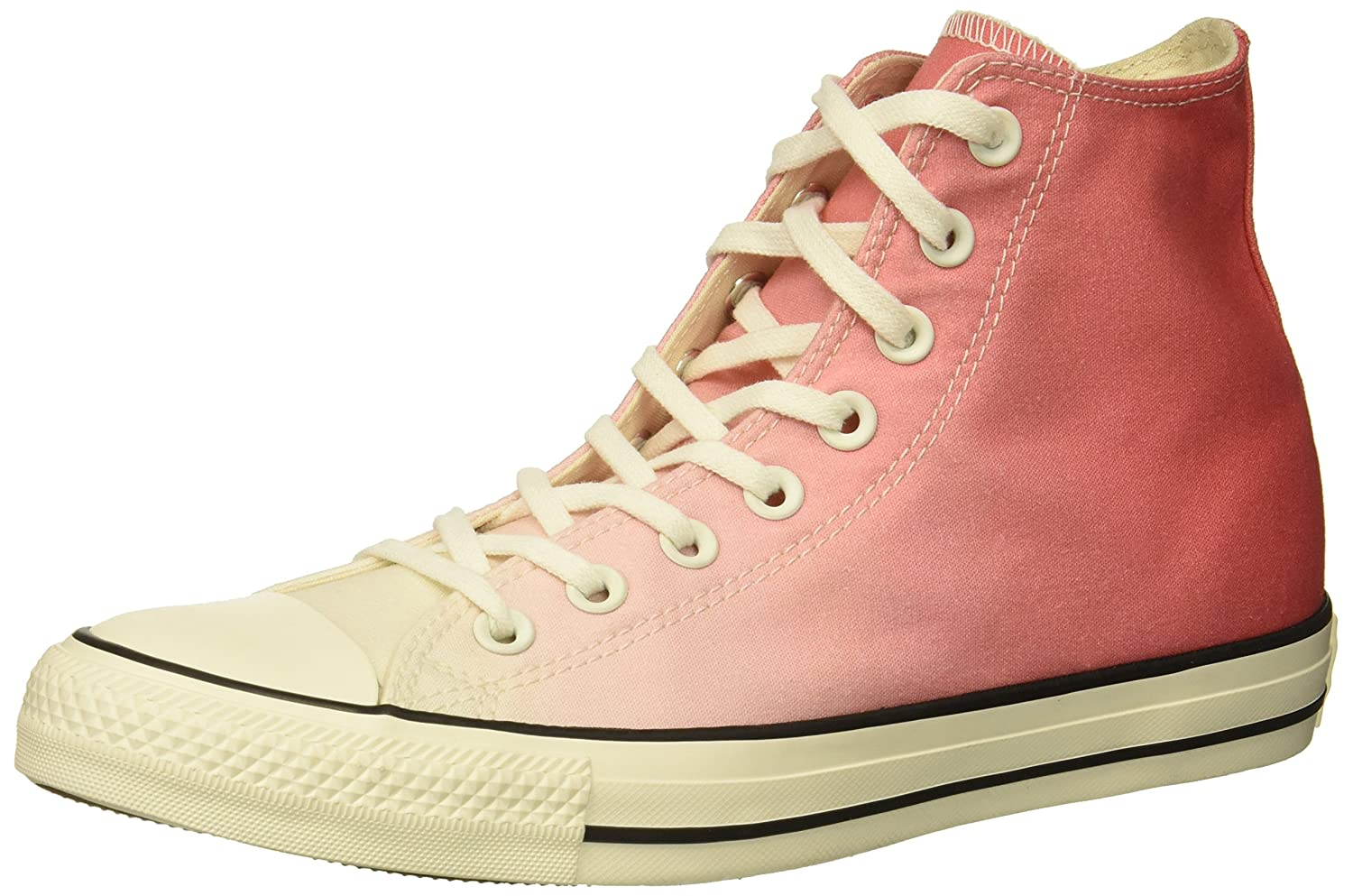 Converse Women's Chuck Taylor All Star Ombre High Top Sneaker B078NG4RV1 10 M US|Punch Coral/Egret/Egret