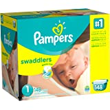 Pampers Swaddlers Diapers Size 1, 148 Count