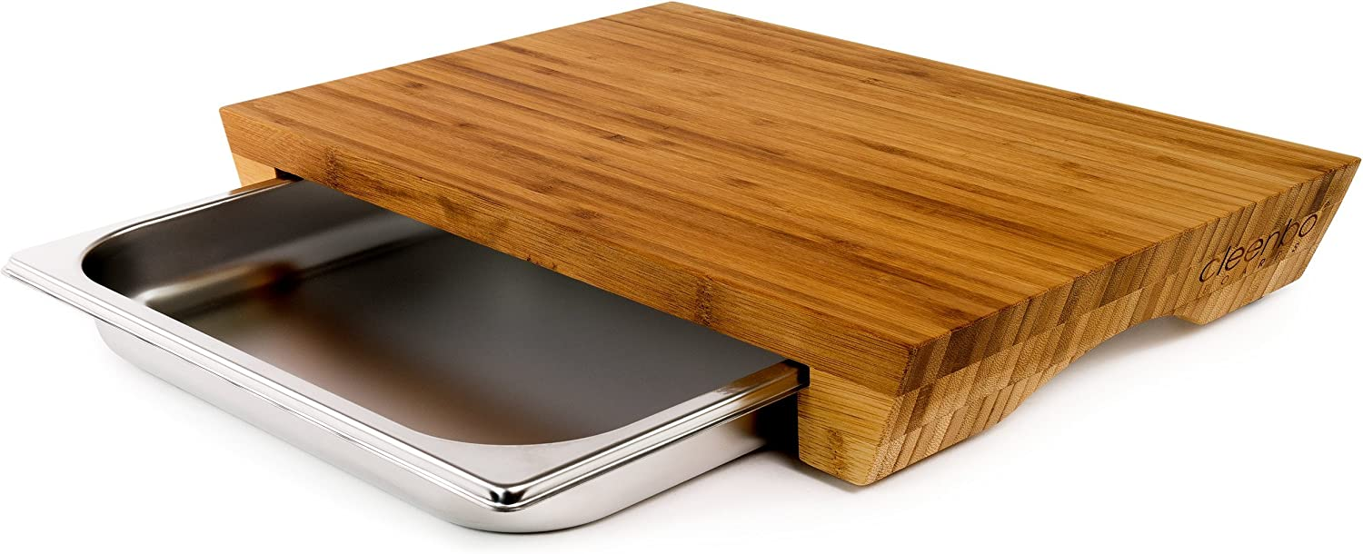"""Chopping board with a handle of beech wood 11"""" 29cm kitchen solid cutting NEW"""