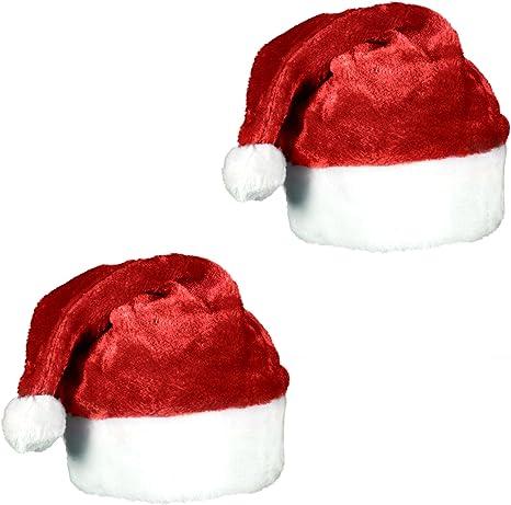 FOHO Santa Hat for Christmas Cosplay Woolen Santa Claus Snowflake Hat Red