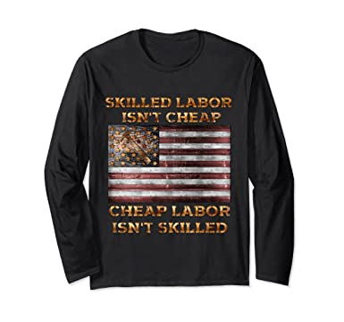 3d4f78c58 Unisex skilled labor isnt cheap carpenter tee shirts long sleeve Small Black
