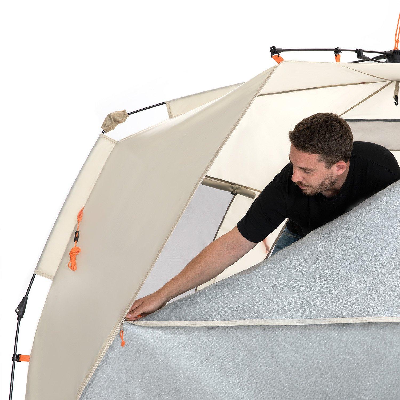 Easthills Outdoors, leicht aufzustellendes Strandzelt für 4 Personen, Deluxe XL XL Deluxe Sonnenschutz, Inklusive erweiterbarem Vordach mit Reißverschluss 4d329a
