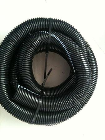 "100/' x 3//4/"" BLACK SPLIT LOOM TUBING CONDUIT CONVOLUTED WIRE CAR MARINE HOME"