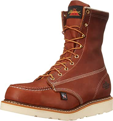 "Thorogood Men's American Heritage 8"" Moc Toe, MAXWear Wedge Safety Toe Boot"