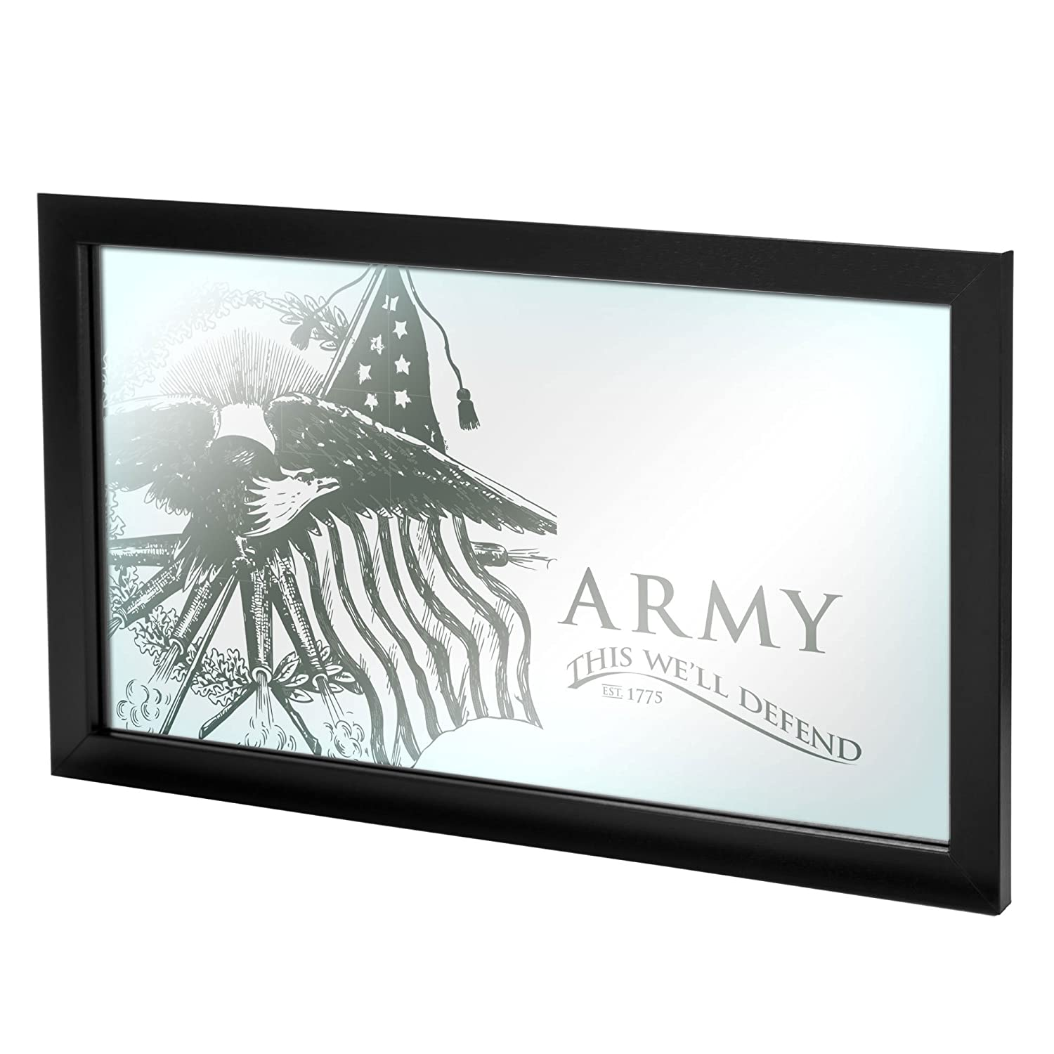 United States Army This Well Defend Framed Logo Mirror