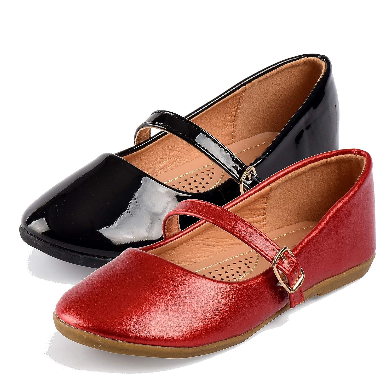 8900b0708cc06 Nova Utopia Toddler Little Girls Dress Ballet Mary Jane Bow Flat Shoes