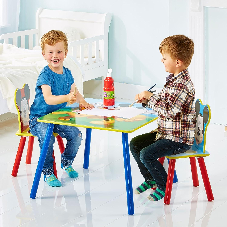 Disney Table avec 2 Chaises Bois Dense 63 x 63 x 45 cm Rouge