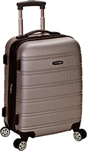 Rockland Luggage Melbourne 20 Inch Expandable Abs Carry On Luggage, Silver, One Size