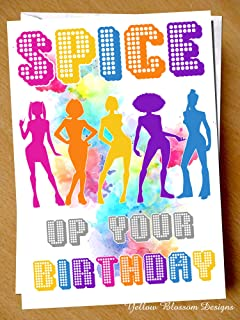 Funny Birthday Card, Spice Girls Card, Scary, Baby, Ginger