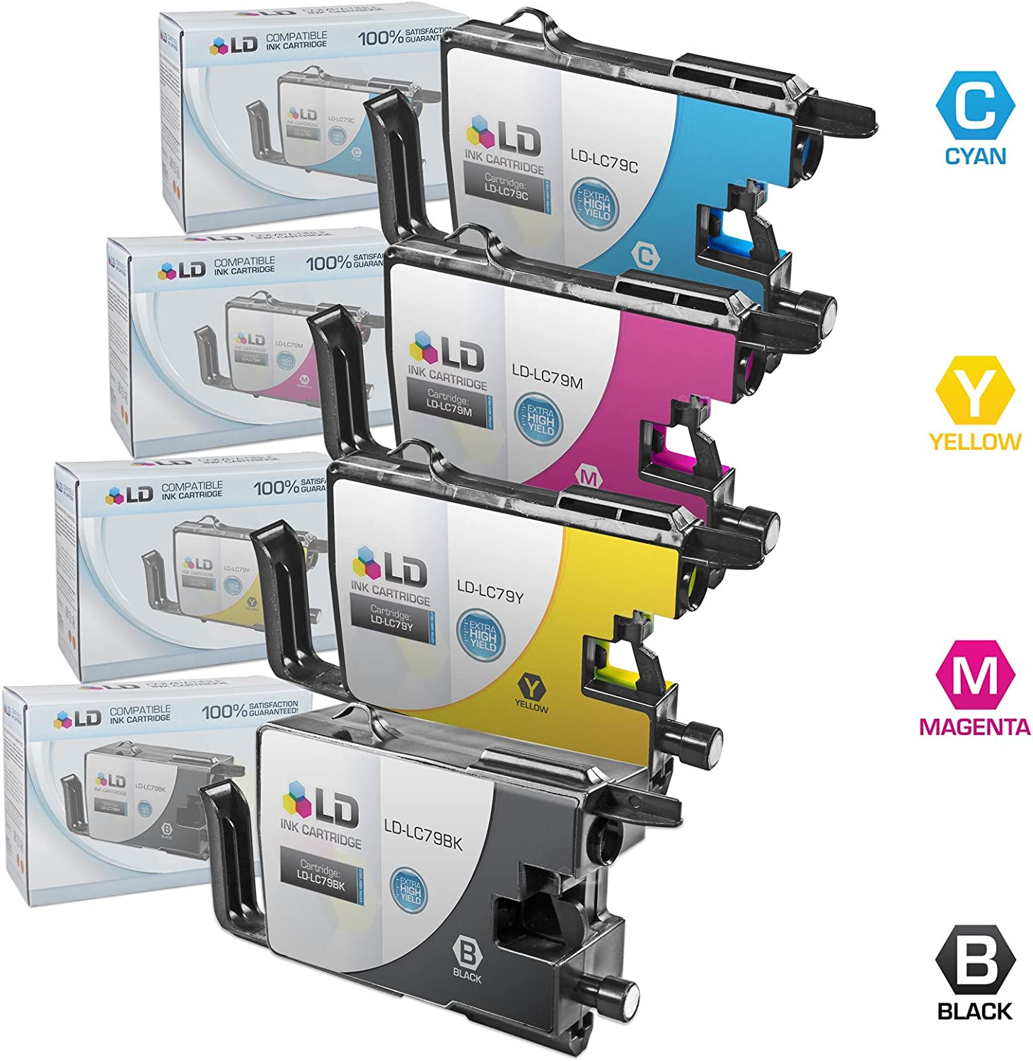 Black LD Compatible Ink Cartridge Replacement for Brother LC79BK Extra High Yield