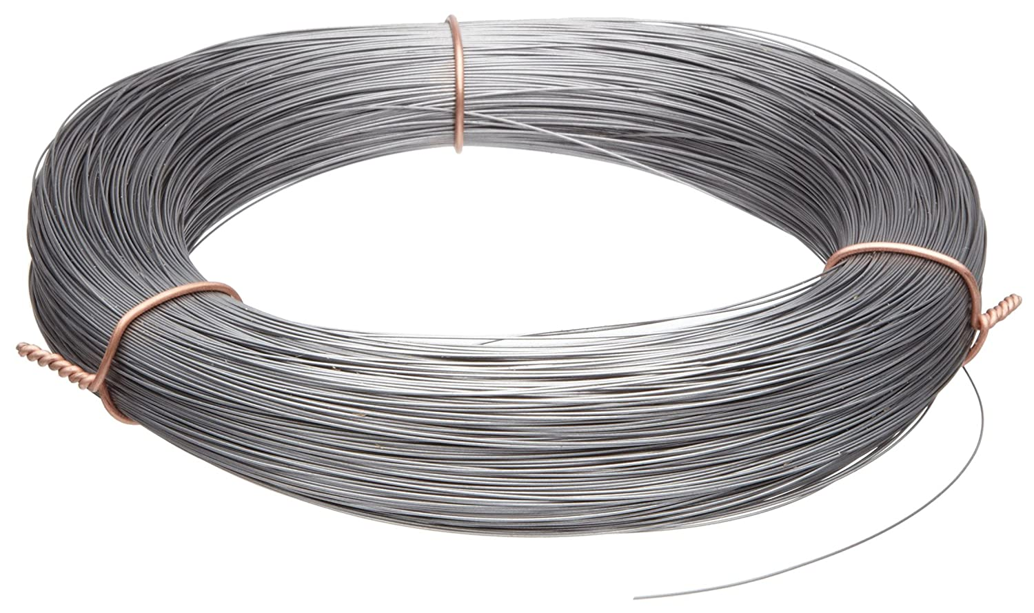 High Carbon Steel Wire, Mill Finish #2B (Smooth) Finish, Grade #2B Smooth, Full Hard Temper, Meets ASTM A228 Specifications, 0.022