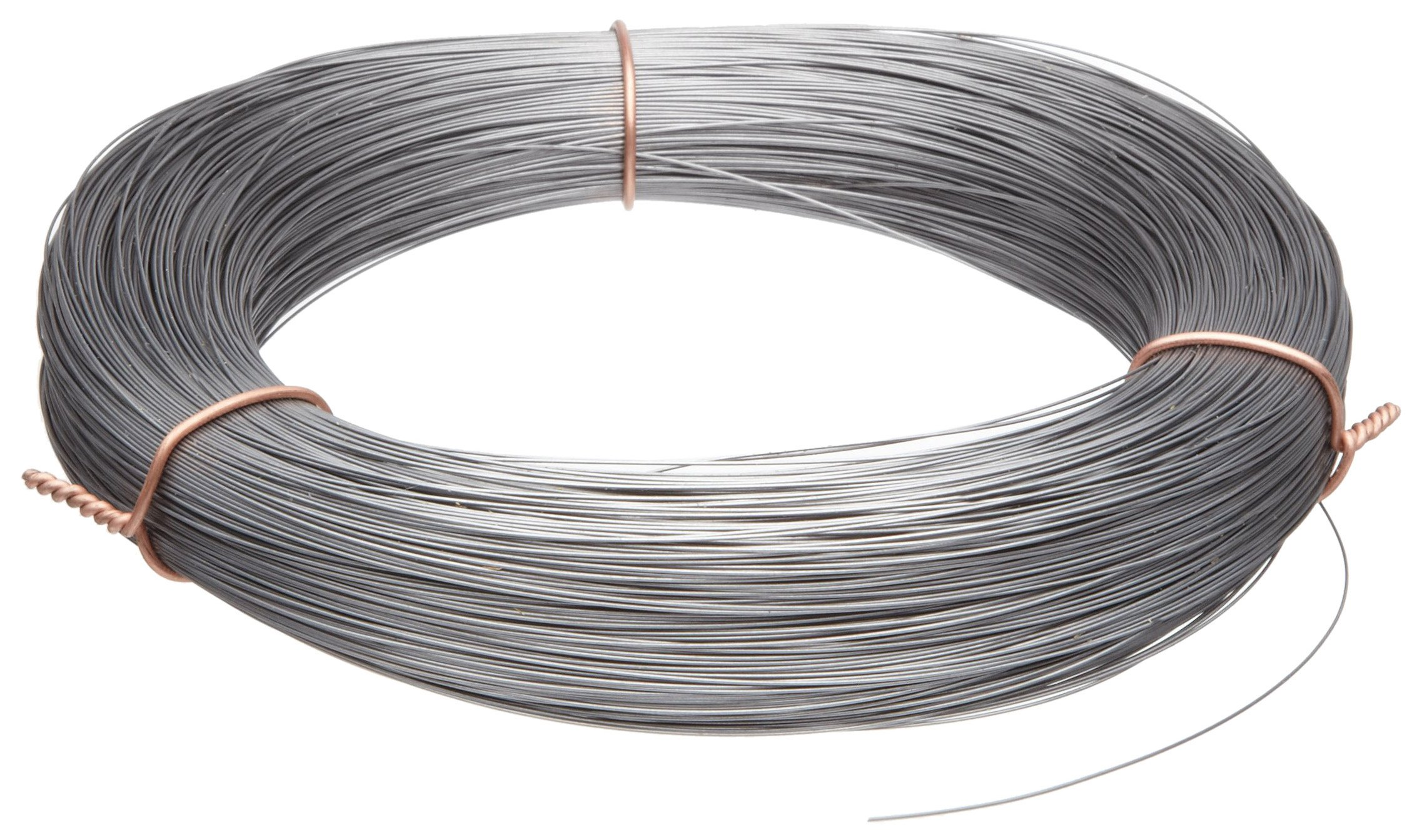 High Carbon Steel Wire, Mill Finish #2B (Smooth) Finish, Grade #2B Smooth, Full Hard Temper, Meets ASTM A228 Specifications, 0.006'' Diameter, 10404' Length, Precision by Small Parts