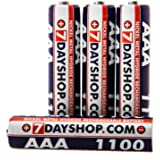 7dayshop AAA HR03 NiMH High Performance Rechargeable Batteries 1100mAh - 4 Pack