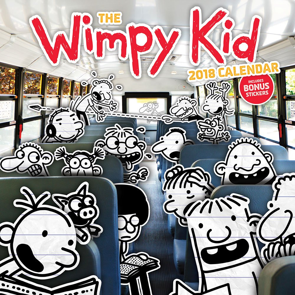 Kids Calendar With Activity Stickers : The wimpy kid calendar jeff kinney  amazon
