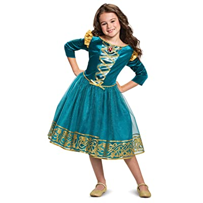 Disney Princess Merida Classic Girls' Costume, Blue: Toys & Games