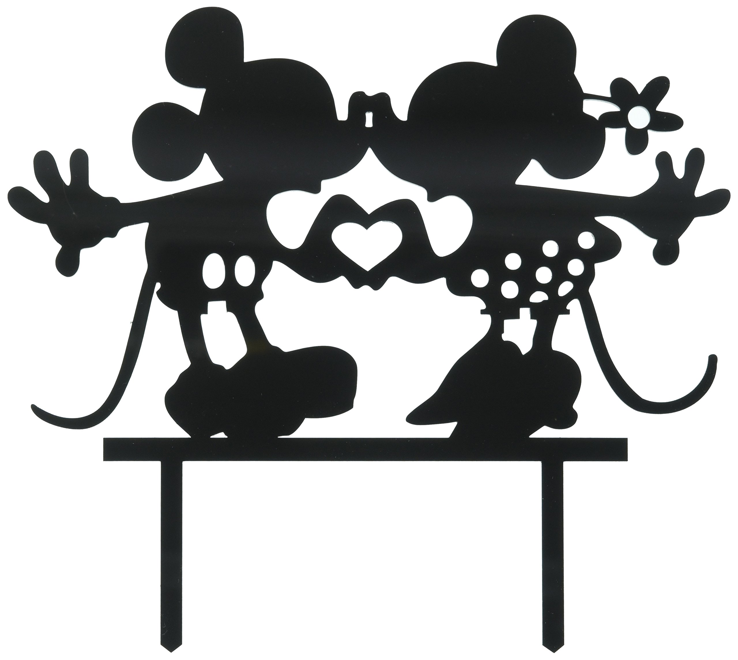 Frog Studio Home V97R4MHYA7 Mickey and Minnie Cake Topper, Multicolored