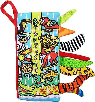 colas animales libro de tela beb/é de juguete Desarrollo Libros Aprendizaje y Educaci/ón Jungly tails