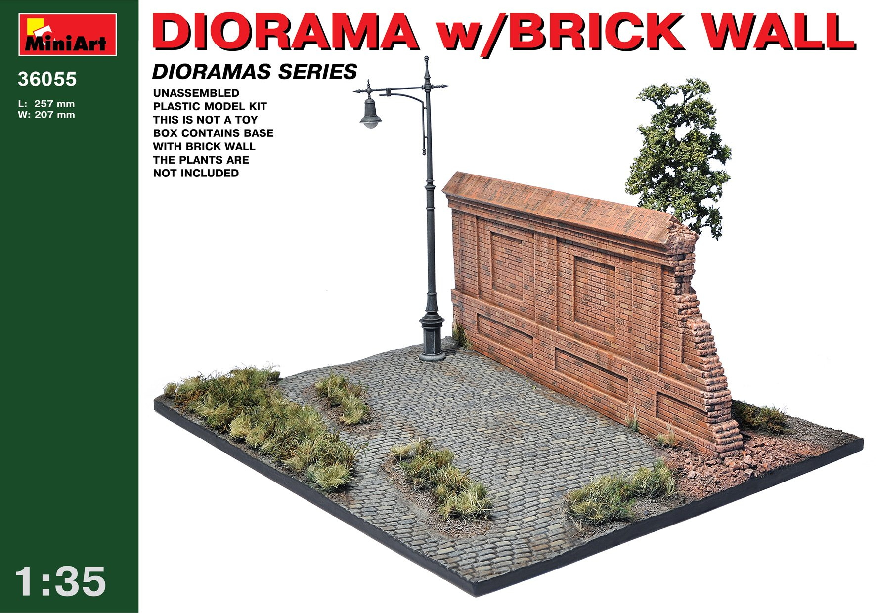 MiniArt 1:35 Scale Diorama with Brick Wall Plastic Model Kit by MiniArt (Image #5)