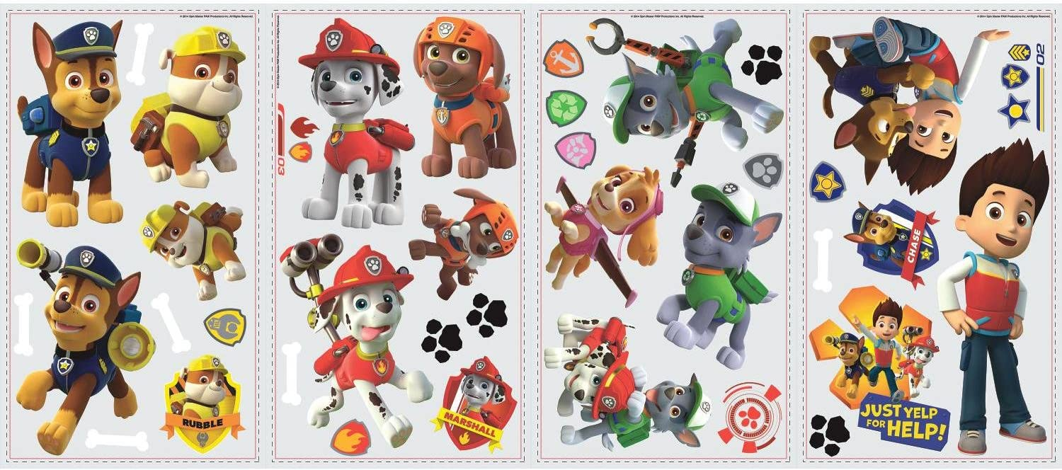 RoomMates Paw Patrol Peel And Stick Wall Decals: Toys & Games