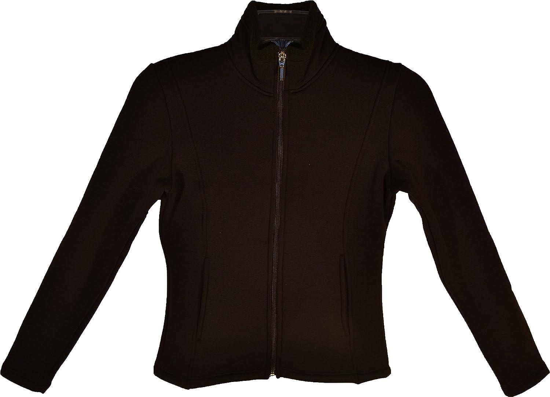 B00LXKA49S ChloeNoel Texture Fleece Figure Skating Jacket with Pockets Polartex Fabrics J42 81O4OCJmMnL.SL1500_