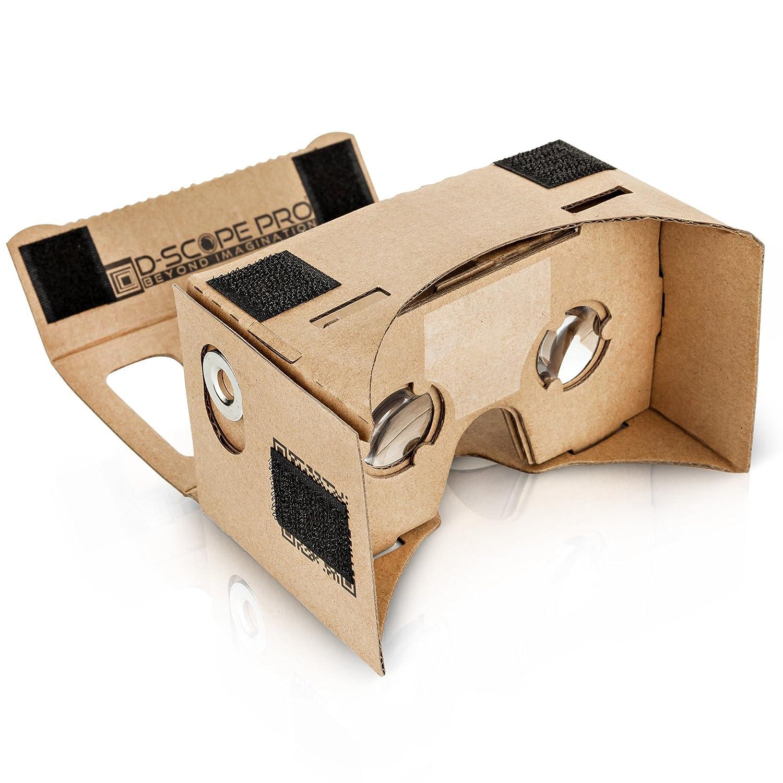 d scope pro google cardboard kit with straps 3d
