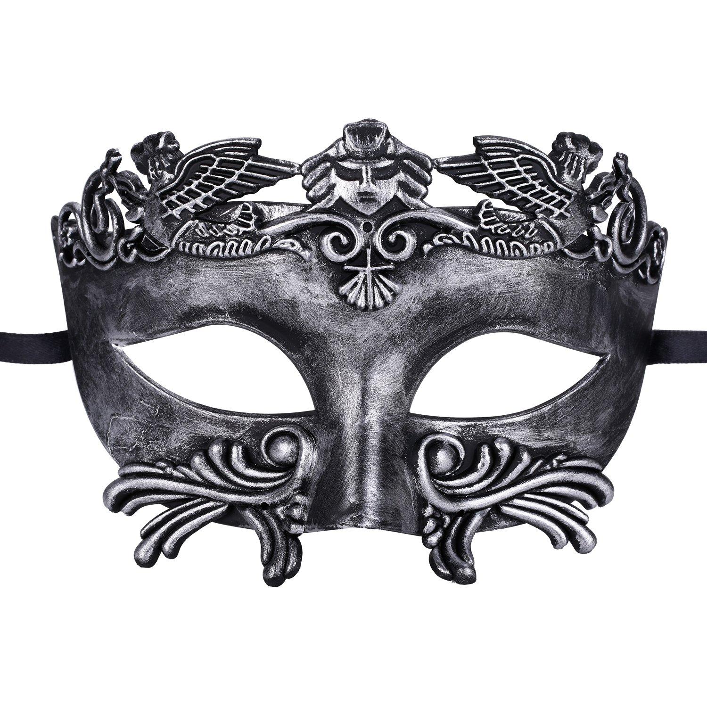 Coxeer Mens Masquerade Mask Greek Roman Party Mask Mardi Gras Halloween Mask