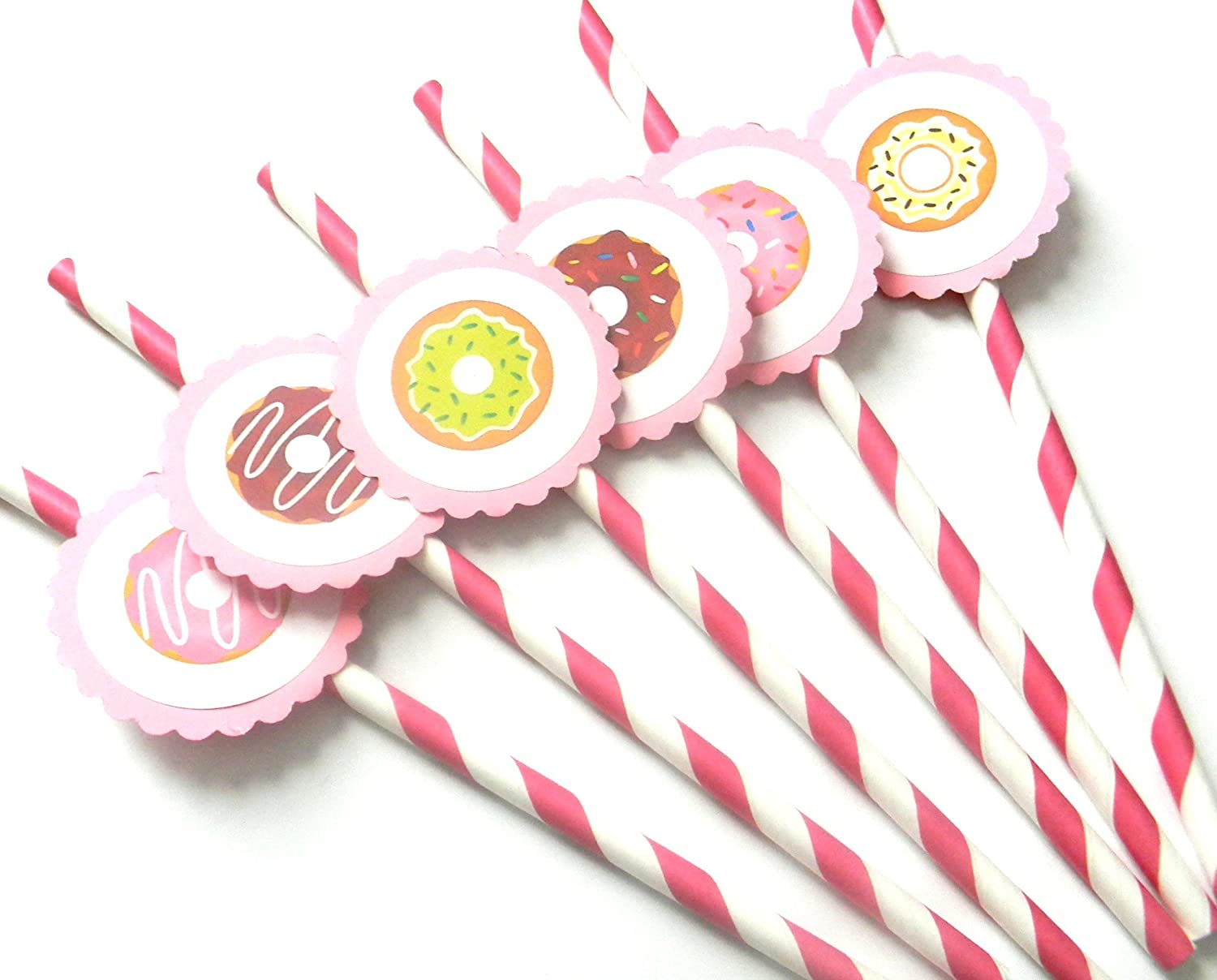 Set of 12 Donut Party Straws