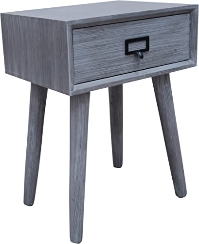 Urbanest Hartford One Drawer Side Table, Slate Grey