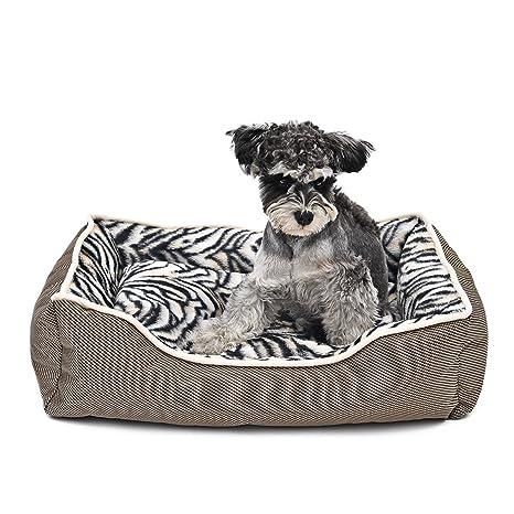 GR Cama de Mascota de Lujo Casa de Mascota Antideslizante Cojín desprendible Cachorro Caliente Cachorro Cazador