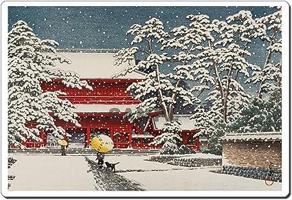 12010 Kawase Hasui Zojoji Temple in Snow ukiyo-e mouse pad MADE IN JAPAN