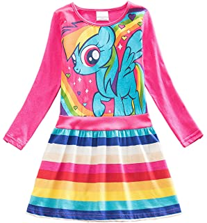 1a7a31132 Amazon.com  My Little Pony Girls  Dress with Ruffles and Wings  Clothing
