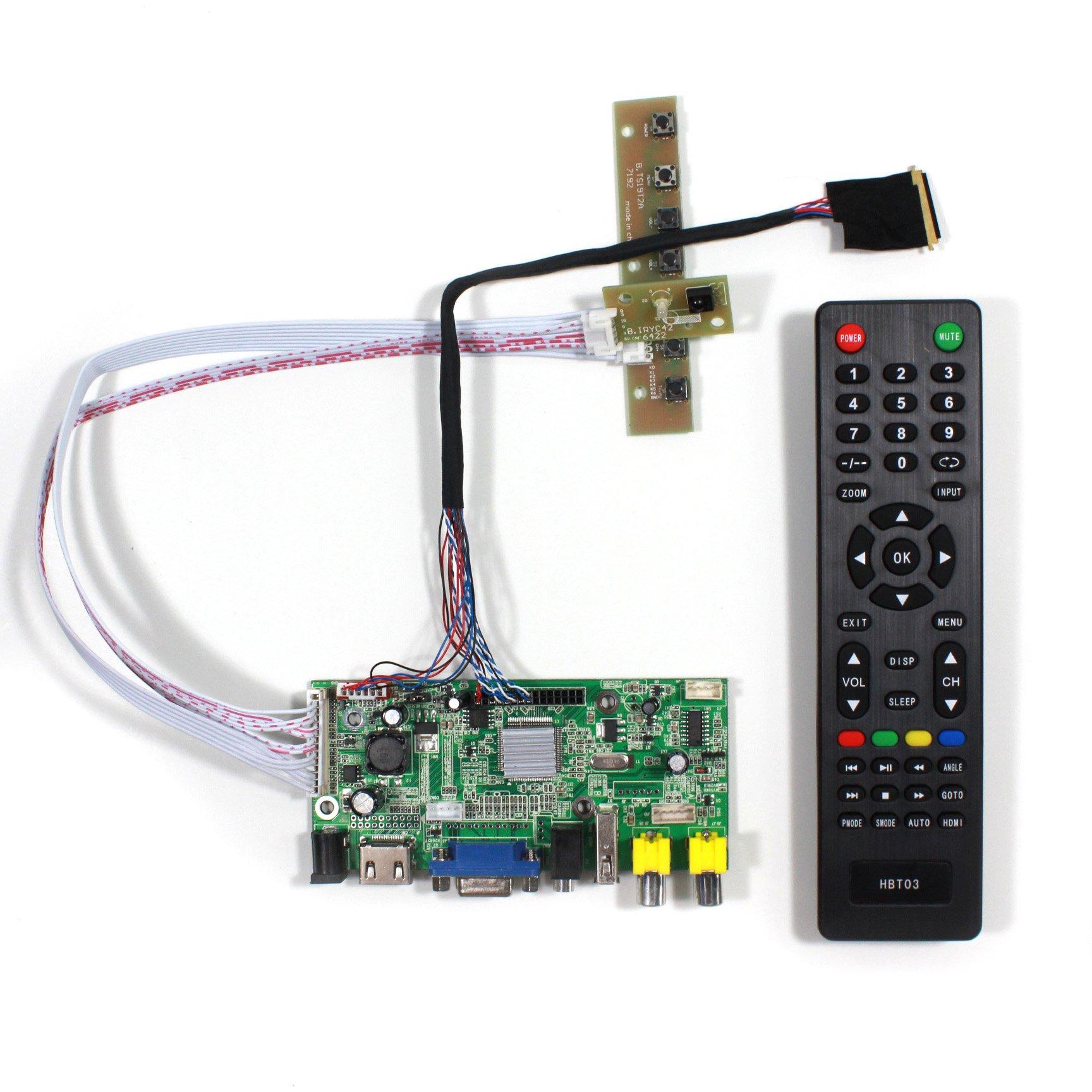 Controladora LCD HDMI VGA 14 15.6 1366x768 LTN140AT02