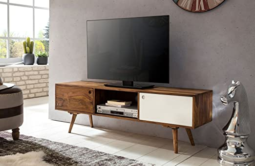 Televisor lowboard REPA 140 cm de Madera Maciza Sheesham Cottage 2 ...