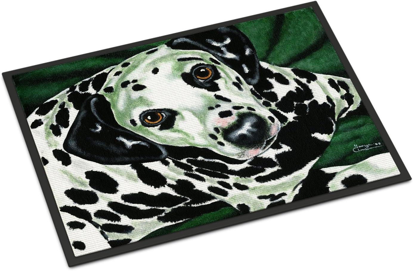 Caroline s Treasures AMB1359JMAT Emerald Beauty Dalmatian Indoor or Outdoor Mat 24×36, 24H X 36W, Multicolor