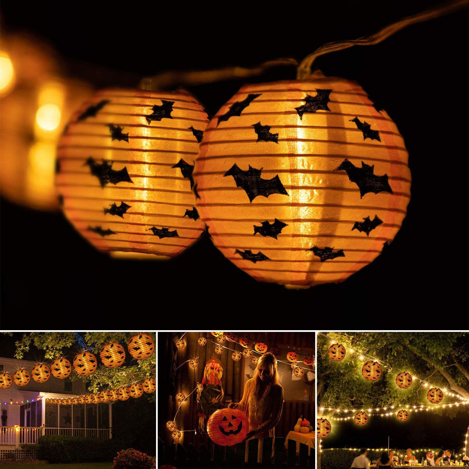 Halloween String Lights Party Lanterns