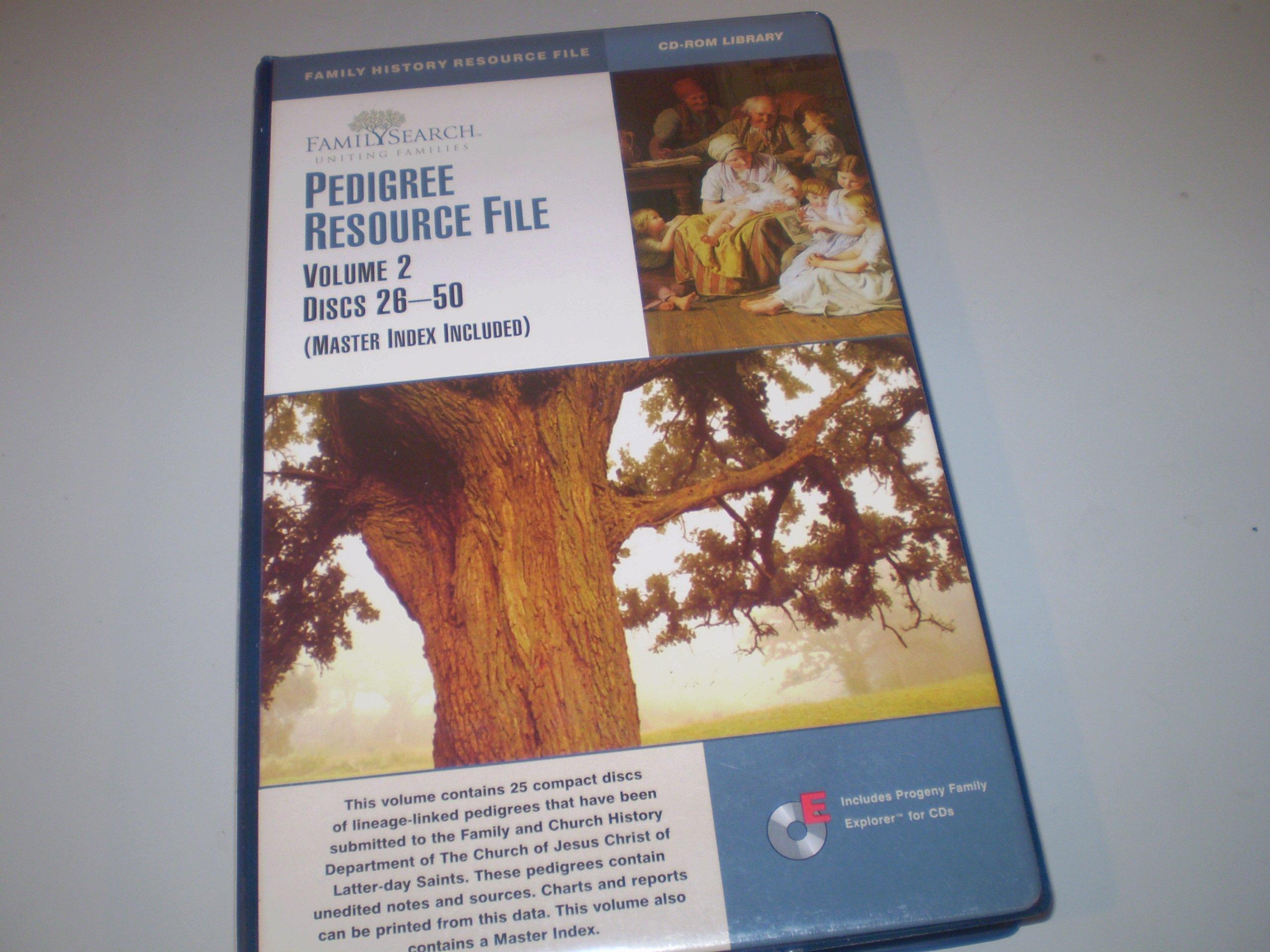 Read Online Pedigree Resource File ((Master Index Included), Volume 2 / Discs 26-50) pdf