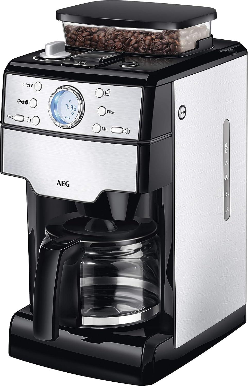 AEG KAM 400 Independiente - Cafetera (Independiente, Cafetera de filtro, 1,25 L, Molinillo integrado, 1000 W, Negro, Acero inoxidable): Amazon.es: Hogar