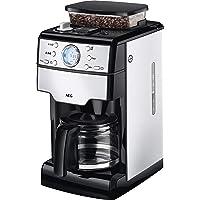 AEG KAM 400 Kaffeemaschine (Kaffeeautomat, 1,25 Liter, integrierte Mahlwerk, 9 Individuelle Mahlgradeinstellungen) Edelstahl