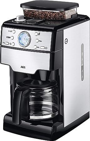 AEG KAM 400 Kaffeemaschine (Kaffeeautomat, 1,25 Liter, Integrierte  Mahlwerk, 9