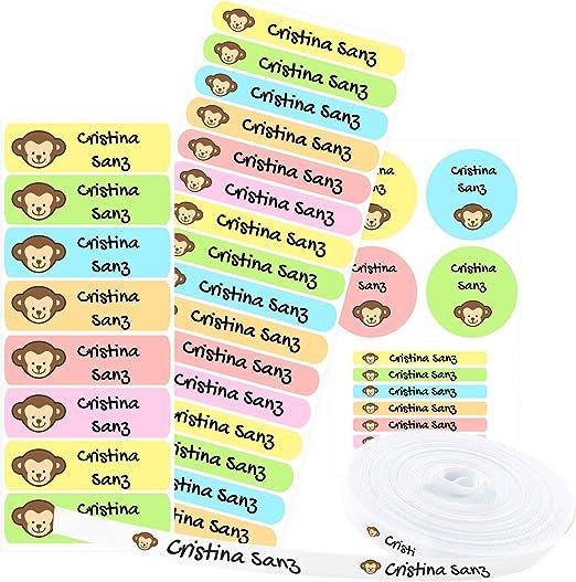 Pack 155 etiquetas personalizadas para marcar ropa y objetos. 100 ...